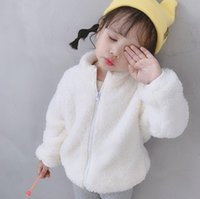 Wholesale zipper cloth for sale - Group buy Fashion Baby Boy Girl Plush Coat Winter Warm Solid Zipper Outwear Double sided Wool Cloth With Soft Nap Cute Fall Jackets Coat