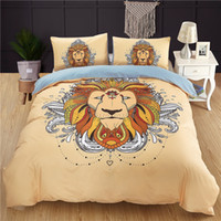Wholesale queen size skull bedding sets online - 3D bed cover set designs D skull print bedding set queen king size reactive printing good fastness cartoon tiger wolf pictures pieces