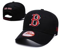 chapeaux de sport rouge snapback achat en gros de-Nouveaux hommes Red Sox Snapback Chapeau avec Réflexion Conception B Lettre Équipe Logo Marque Hip Hop Sports Baseball Casquettes Réglables