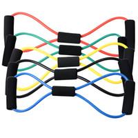 tubos de entrenamiento de resistencia al por mayor-Cuerda de yoga Tire Látex Tubo de goma Tubo de entrenamiento muscular Correa Resistencia Tire Cuerda elástica Gimnasio Fitness Equipment WWA180