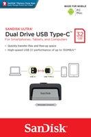 samsung flash drive оптовых-SanDisk 32 ГБ Ultra Dual USB Flash Drive USB 3.0 Type-C для Android Samsung LG Смартфон SDDDC2-032G