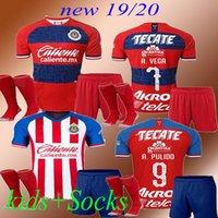 uniformes de futbol mexico al por mayor-new kids + Socks19 20 Chivas jersey mexico 2019 2020 soccer jersey guadalajara Home Away uniformes football shirt BRIZUELA PULIDO E.VEGA