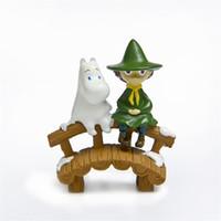 Wholesale boys toys online - Moomin Figures Boy Sit Bridge Micro Landscape Doll Lovely Cartoon Model Cm High Quality Kids Favor lz D1