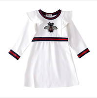 ingrosso vestito mezzo della neonata-Baby Girl Dresses Skirt Abbigliamento per bambini Home Girl Completo in cotone Abito girocollo a maniche lunghe Maglione a testa di passo Gonna Twinset