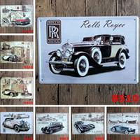 kalay işaretleri eski otomobiller toptan satış-Poster Tin ile Çevre Dostu Metal Tablolar 20 * 30cm Klasik Garaj Araba Coffee Shop Bar Restaurant Wall Art Dekorasyon Bar Vintage Sign