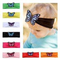 kleinkind schmetterling großhandel-Baby Schmetterling Stirnband Blumen Haarschmuck Kinder elastisches Haarband Neugeborenes Kleinkind Baby Schmetterling Stirnband LJJK1336