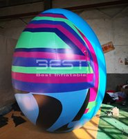 ingrosso decorazioni di pasqua gonfiabili-High quality giant 3m high inflatable easter egg for Easter decoration inflatable egg for easter festival event decoration