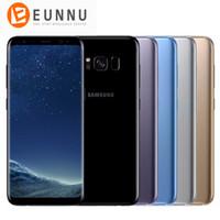"""gsm сотовые телефоны двухъядерные оптовых-Samsung GALAXY S8 Plus S8 + 4G LTE Мобильные телефоны 6,2 """"Android 7,0 Snapdragon 835 4 ГБ ОЗУ 64 ГБ ПЗУ 2960x1440 12-мегапиксельная камера 3500 мАч"""