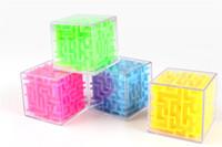 eğlenceli 3d bulmaca toptan satış-Çocuklar için 5.5cm 3D Cube Puzzle Labirent Oyuncak El Oyun Vaka Kutusu Eğlence Beyin Oyun meydan Fidget Oyuncak Denge Eğitici Oyuncaklar