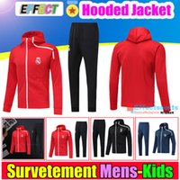 Wholesale uniform sets for sale - 2018 Real Madrid Hoodies Jacket Kits Training Suit MODRIC BALE Chandal Tracksuits Maillot de foot Survetement Hooded Uniforms Sets