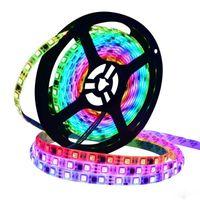 led bande individuelle achat en gros de-30/60 LEDs / M 2811 Pixels LED programmables individuelles adressables Light bande WS2811 Lampe RGB 12V Noir LED