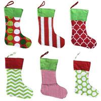 ağaçlar filmi toptan satış-Noel Ağacı Kolye Stocking Noel Şeker Çorap Çanta Noel Hediye Çantası Dekorasyon narin Nakış Çizgili Leopar DHL AN2558