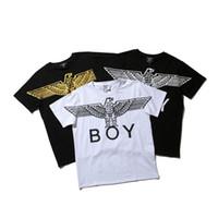 очки пингвинов оптовых-Мальчик Лондон футболка хип-хоп мальчик Лондон Мужчины Женщины дизайнер футболка высокое качество с коротким рукавом мода тройники M-2XL