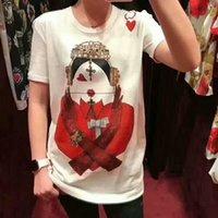 fantastische farbhemden großhandel-2018 neue Ankunft Fancy Queen Shirt und Frauen Sommer Tshirt Bestseller Tshirts Weiße Farbe