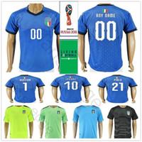 5591cbe50abaa Jersey de la Copa del Mundo Italia 2018 INSIGNE ZAZA EL SHAARAWY PIRLO De  Rossi Bonucci Verratti Buffon Camiseta de fútbol de fútbol local  personalizada de ...