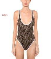 stil moda bikini mayo toptan satış-2019 Yaz Seksi Kadınlar Için Tek parça Mayo Bikini Set Moda Marka Mayo FF Mektuplar Lady Backless Mayo Ile 2 Stilleri S-XL