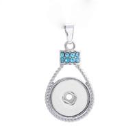 ingrosso branelli di diamanti attraversano-Moda metallo intercambiabile Fiore amore Ginger collana di cristallo 188 Fit 18 millimetri con bottone a pressione gioielli ciondolo fascino per le donne regalo
