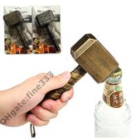 flaschenhammer großhandel-Bier Flaschenöffner Multifunktions Hammer Of Thor Shaped Bier Flaschenöffner Mit Langgriff Flaschenöffner Bier