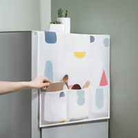 cubiertas de polvo del refrigerador al por mayor-Creativo PEVA Refrigerador Cubierta a prueba de polvo Bolsas de almacenamiento multifuncionales Organizador nevera bolsa para lavadora Horno de microondas