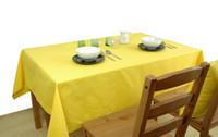 azul púrpura mesa decoración al por mayor-YO HOOM Cocina Algodón Mantel Mantel Mesa de centro Mantel Mantel Rosa