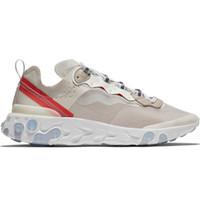 erkek koşu ayakkabıları toptan satış-40 + Colorways React Elemanı 87 55 Gizli Erkekler Kadınlar Için Koşu Ayakkabıları Tasarımcı Sneakers Spor Erkek Eğitmen Ayakkabı Yelken Işık Kemik Kraliyet Tonu