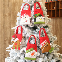 Wholesale light gray handbag for sale - Group buy 5 Christmas Candy Tote Gift Bags Santa Claus Elk Bear Penguin Pouch Handbags Xmas Tree Pendant Decorations Presents Supplies