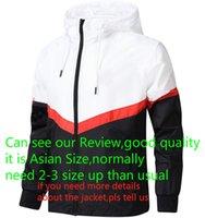 outdoor esportes casacos venda por atacado-Designer marca Jacket 2018 Moda Tide Mens jaqueta casaco letras impressas Luxo Mens Hoodie Roupa desporto ao ar livre Windbreak L-4XL