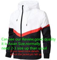 jacke luxus groihandel-Marken-Designer-Jacke 2018 Fashion Tide Mens-Jacken-Mantel Buchstaben gedruckt LuxuxMens Hoodie beiläufige Sport im Freien Windschutzkleidung L-4XL