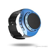 мини-музыкальный mp3 оптовых-Мини Bluetooth для беспроводной часы наручные динамик портативный для мобильного телефона планшетного ПК 400 мАч
