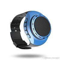 relojes bluetooth altavoz al por mayor-Mini Bluetooth inalámbrico Reloj de pulsera portátil para teléfono móvil de la PC Tablet PC 400mAh