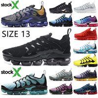 tn spor koşu ayakkabıları toptan satış-Boyut 13 Stok X TN Artı 2020 Geometrik Aktif Fuşya Siyah Erkek Kadın Limon Kireç Bumblebee Lazer Hiper Mavi Spor Sneakers Ayakkabı Koşu