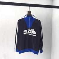 erkek başörtüsü hoodie toptan satış-19ss Fransa İtalya Yeni Sıcak Moda Balıkçı Yaka omuz fermuar kazak Pamuk erkek kadın Erkek Hoodies Lüks Tişörtü
