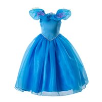 Wholesale fashion dresses for girls for sale - Group buy Pettigirl Fashion Blue Girls Princess Party Dress Halloween Children Clothes Cinderella Cosplay Costume Kids Clothes for Girl