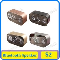15x AS2 Bluetooth Speaker Wireless LED Display Digital Alarm Clock Subwoofer Stereo Loudspeaker Support FM Radio AUX-in TF Card Mirror