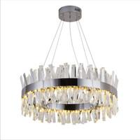 rectángulo led luz colgante al por mayor-Lámpara de cristal moderna de diseño de rectángulo redondo para lámparas de isla de cocina de comedor que cuelgan lámparas de led modernas accesorio de iluminación interior