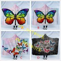 Wholesale snuggle blanket for sale - Group buy Butterfly Hooded Blanket Cartoon Cute Children Blanket with Hood Soft Warm Sherpa Fleece Snuggle wrap Blanket for Kids cm cm
