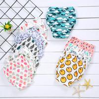 couches d'enfants achat en gros de-10 Pack Bébé Pantalon D'entraînement 4 Couches Coton Couches En Tissu Nouveau-Né Réutilisable Nappies Cartoon Imprimer Enfants Sous-Vêtements Culotte
