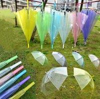 adultes adultes achat en gros de-7 couleurs clair Bubble Umbrella Transparent Dôme Coupe-Vent Adultes Rain Dome Canopy Fourre-tout Décor de fête de mariage Golf Parapluies Rain Gear A423