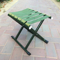 Wholesale folding camp chair stool resale online - Folding Camping Stool Heavy Duty Outdoor Portable Folding Chair for Camping Fishing Hiking Beach cm cm