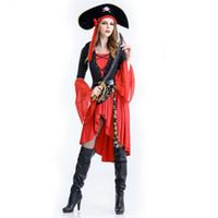 trajes de pirata xxl al por mayor-Hot Sexy Women Cosplay Disfraces Fiesta Adulto Cosplay Halloween Women Sexy Pirata Disfraces
