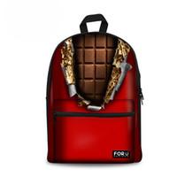 модные школьные рюкзаки оптовых-Модный Шоколад Дизайн Женщины Рюкзак Повседневная Детская Школьная Сумка для Подростка Повседневная Дети Девушки Рюкзак в Школу Bagpack