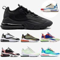 zapatillas blancas de hip hop al por mayor-Nike Air Max 270 React de Hip Hop Negro TN Reaccionar Running Shoes Mens azul rojos ópticos para mujer blancos negros vacíos cojín Cumbre AIRE zapatillas versátiles 36-47