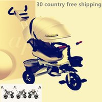 Wholesale tricycles resale online - baby tricycle bike trolley baby carriage motor tirk walking car balance ride toy trailer kids gift