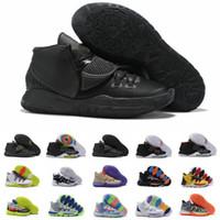 ingrosso scarpe nere per gli uomini-2019 New Kyrie6 6s Triple Black Gold Rosso Mens scarpe da basket di alta qualità Irving 5 Kyrie 6 Graffiti Men Sports Sneakers Taglia 40-46