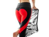 dansı severim toptan satış-Yüksek bel koşu spor kadınlar aşk dikiş dokuz pantolon spor spor tayt yoga pantolon spor kalça streç ince tayt dans spor