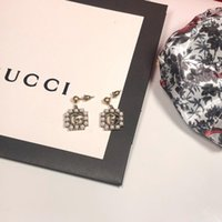 s ohrringe großhandel-Frauen neue diamant schmuck mode ohrringe buchstaben 18 karat cz ohrstecker silber 925 überzogene ohrringe für frauen