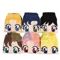 calcetines de algodón para mujer al por mayor-Dibujos Anime Sailor Moon superficial algodón calcetines calcetines tobillo de las mujeres de las nuevas mujeres regalos de Navidad