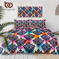 Wholesale elegant floral bedding sets resale online - BeddingOutlet European Comforter Cover Colorful Floral Classic Bedding Set Elegant Luxury Bed Linens Watercolor Bedspreads