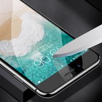 protetores de tela de vidro para celulares venda por atacado-6d vidro curvo superfície de vidro temperado para iphone x 8 7 6 s protetor de tela 9 h dureza completa cola coberta celular