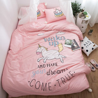 Wholesale horse bedding sets king size for sale - Group buy White ball Princess style Pink Horse Bedding set Queen King size Egyptian Cotton bed duvet cover fit sheet set Pillowcase